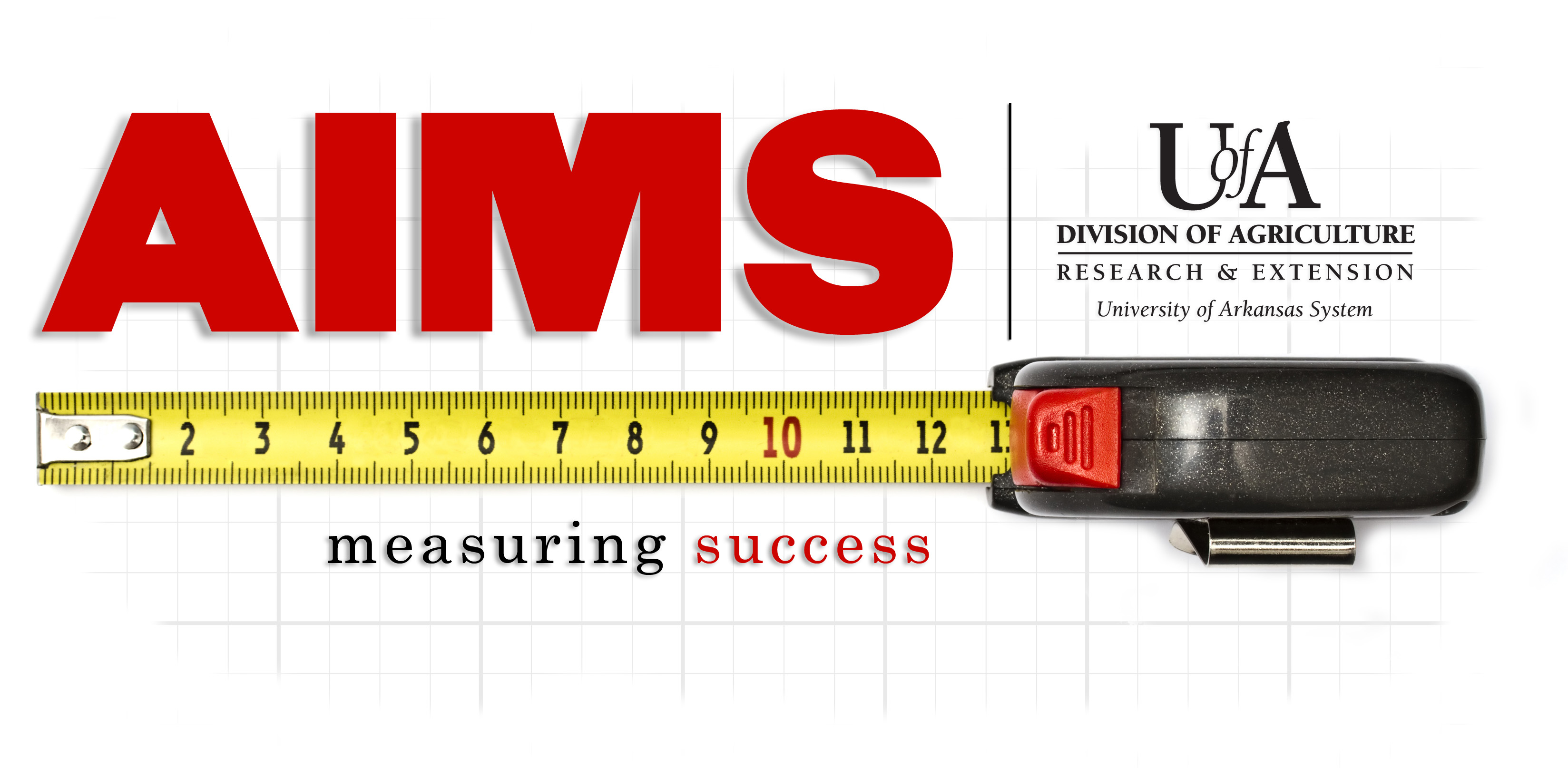 AIMS logo with tape measure