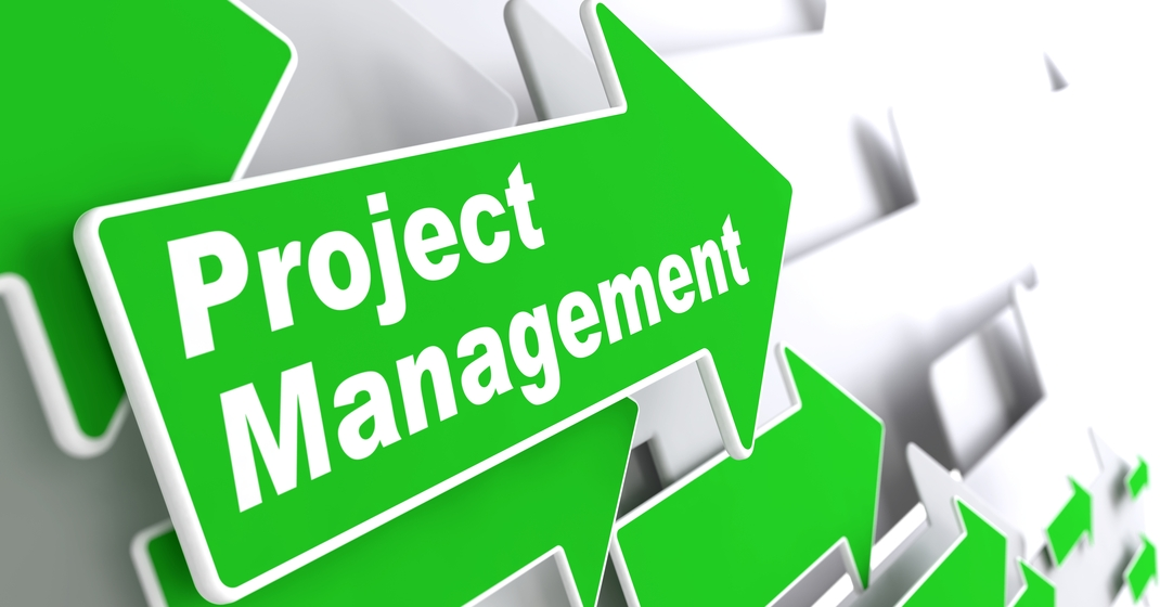 green arrows labeled project management