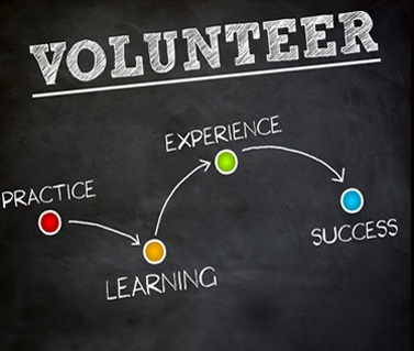 volunteer flow chart - practice, learning, experience, success