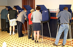 picture of people voting
